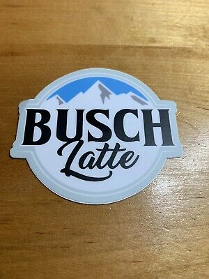 2x Busch Latte Beer Stickers BUSCHHHHHH Bud Budweiser Light IPA brew NO CAN sent