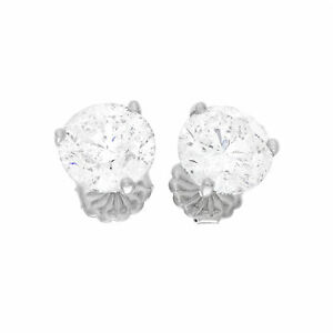 Image Is Loading 18k White Gold Gia Certified Diamond Earring Set
