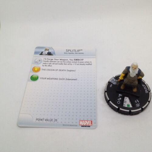 Heroclix Fear Itself set Splitlip #301 Scenario Pack figure w//card!