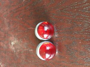 Red-Bicycle-reflectors-jewels-for-Schwinn-Harley-J-C-Higgins-etc-Rack-reflectors