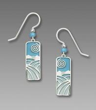 Adajio Earrings Sterling Silver Hooks Light Blue Winter's Day Handmade in USA