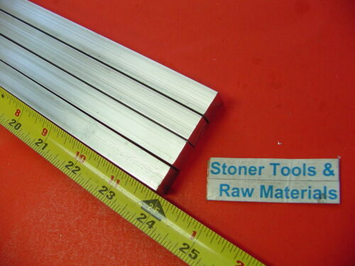 "4 Pieces 1//2/"" X 1//2/"" ALUMINUM SQUARE 6061 T6511 FLAT BAR 24/"" long Mill Stock"