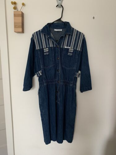 Vintage Ideas Denim Dress Medium