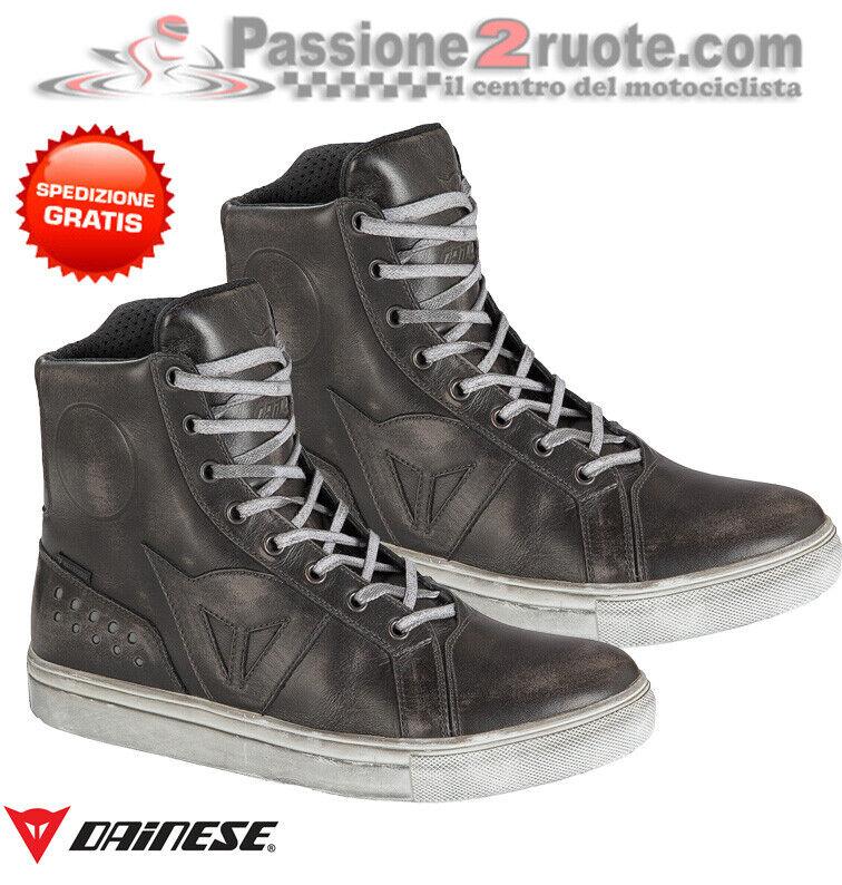 Shoes Dainese Street Rocker Wp Black Shoes Motorcycle Morini Guzzi Piaggio