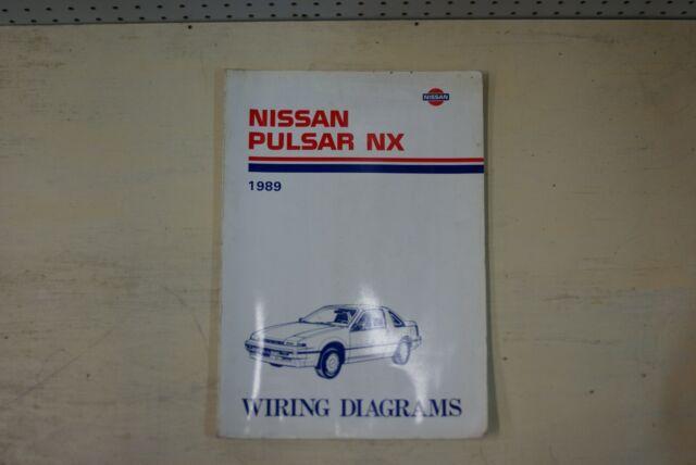 1989 Nissan Pulsar Nx Factory Shop Service Repair Wiring