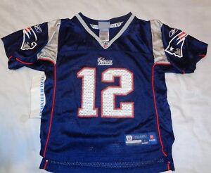 Details about Tom Brady #12 New England Patriots Reebok On Field Jersey Kids Boys Large size 7