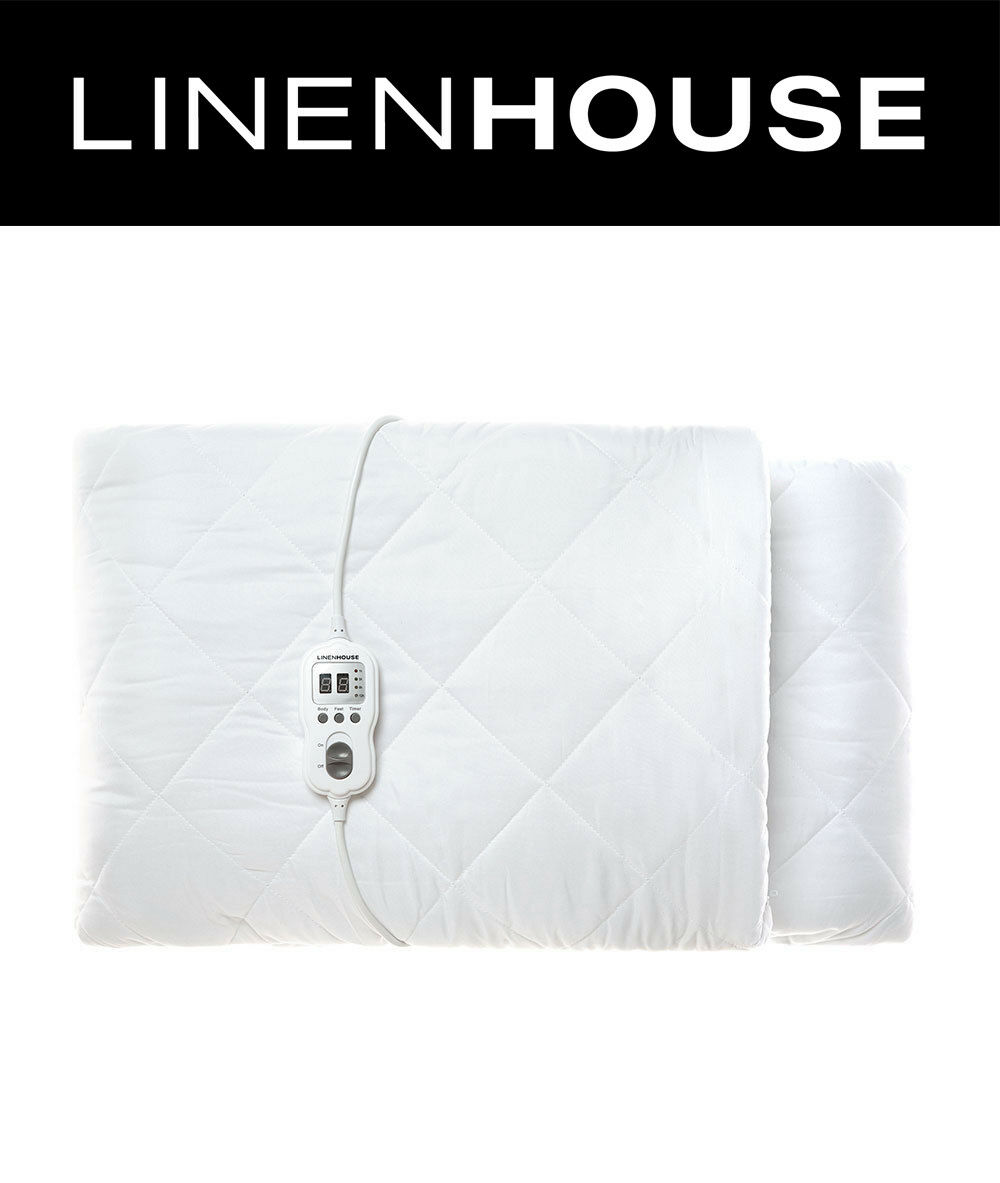 Linen House Quilted Multi-Zone Electric Blanket Super König Größe 50cm Wand Fitted