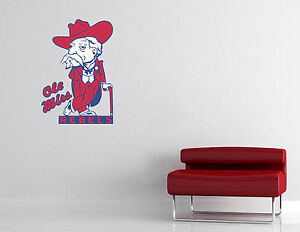 Ole Miss Rebels Wall Decal Vinyl Sticker Decor EXTRA LARGE L91