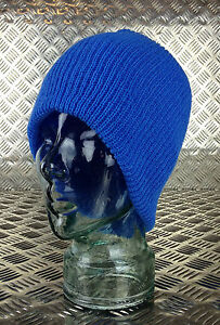 SKY-BLUE-Knitted-Beanie-Hat-Watch-Cap-Woolly-Hat-One-size-BRAND-NEW