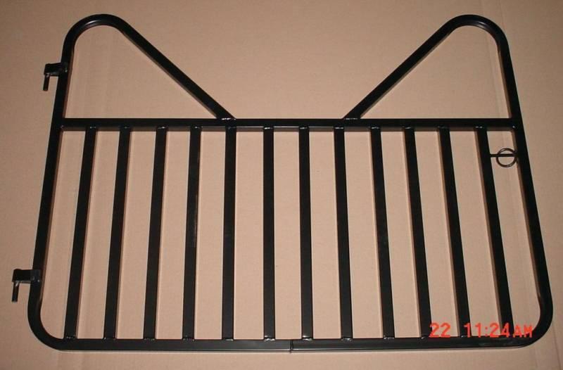 Estándar pequeño 34 pulgadas x 48 pulgadas Caballo Stall Puerta-Negro