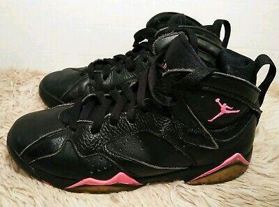 black and pink jordan 7