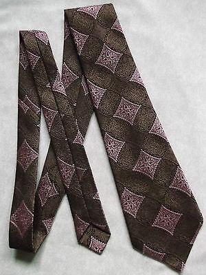 Imparato Vintage Cravatta Da Uomo Cravatta St Michael M&s Stile Retrò Marrone Rosa Scuro-mostra Il Titolo Originale Scelta Materiali