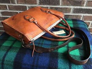 VINTAGE-PARAGUAY-NATURAL-TAN-BASEBALL-GLOVE-LEATHER-BRIEFCASE-TOTE-BAG-R-448