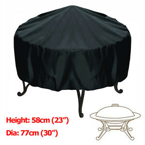 30-inch-Patio-Round-Fire-Pit-Cover-Waterproof-UV-Protector-Grill-BBQ-Cover-Black