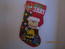 Peanuts Charlie Brown Christmas Holiday Stocking Hanger Decoration NEW WITH TAGS