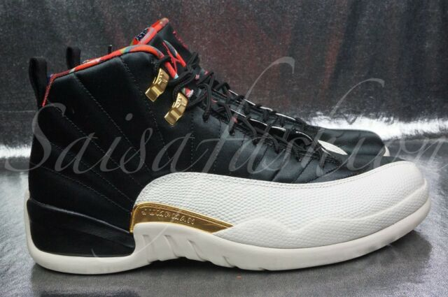 on sale 1f43f 6c2d4 Nike Air Jordan 12 Retro Chinese Year Black Red Sail Ci2977 006 Size 10.5
