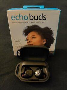 1st Gen Amazon Echo Buds True Wireless In-Ear Headphones Black W/ Original Box