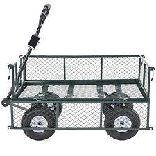 BN 660LB Heavy Duty Steel Wagon Cart Utility Trailer Yard Garden Dump Lawn