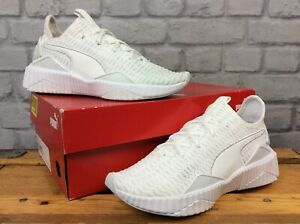 PUMA-LADIES-UK-5-EU-38-DEFY-ALL-WHITE-FLYKNIT-TRAINERS-RRP-80-LG