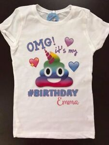 Image Is Loading Emoji Poop Unicorn Birthday Rainbow