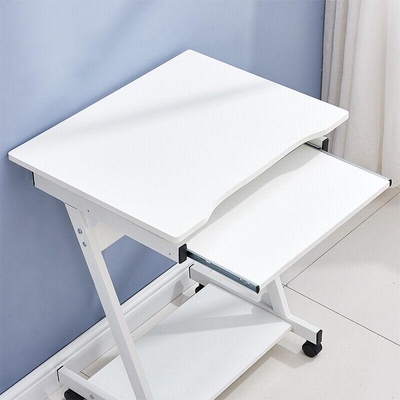 Small White Computer Desk Study Table Workstation Sliding ...
