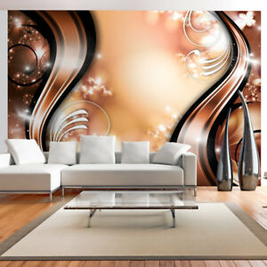 Vlies Fototapete 3 Farben Tapete Abstrakt Ornamente Wohnzimmer