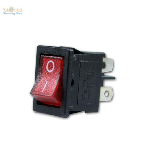 2 Polos Máx 250V//3A Conmutación 5X Interruptor Basculante Rojo