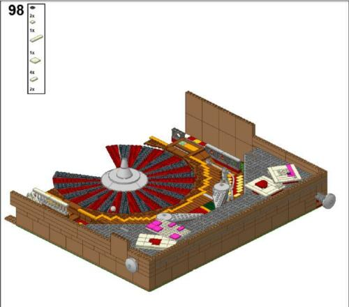 LDD and  Inventory List 3523  pieces lego PINBALL instructions PDF