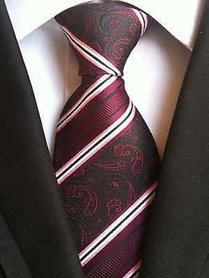 (nt166) Burgundy Red Paisley Necktie Wedding Office Business Party Tie For Men Ein Bereicherung Und Ein NäHrstoff FüR Die Leber Und Die Niere