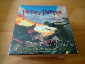 HARRY-POTTER-AUDIO-BOOKS-4-5-J-K-ROWLING-STEPHEN-FRY-UNABRIDGED-41-CDs-RRP-159