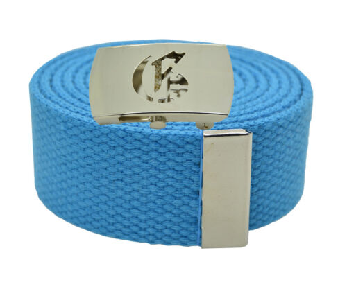 """72 Inches 25 Color 54 60 Canvas Military Web Belt /& BIG /""""H/"""" Silver Buckle 48"""