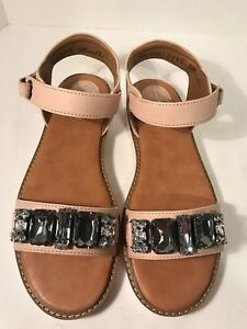 1f51cf7d1b01e Image is loading Clarks-Lydie-Joelle -Nude-Leather-Gladiator-Crystal-Detailing-
