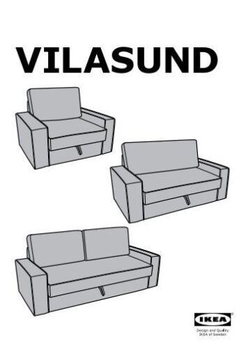 IKEA vilasund Remplacement Jeu De Housse seulement canapé-lit 2 places Ramna gris clair
