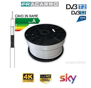CAVO-COASSIALE-ANTENNA-SATELLITARE-FRACARRO-TV-HD-5-MM-RAME-CLASSE-A-SKY-DVB