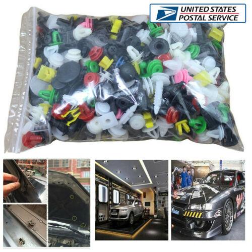 400Pcs Car Door Trim Panel Bumper Fender Rivet Retainer Clips Fasteners Kit USA