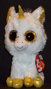 "TY BEANIE BOOS - PEGASUS the 6"" UNICORN - MINT with MINT TAG - EUROPEAN EXCL."
