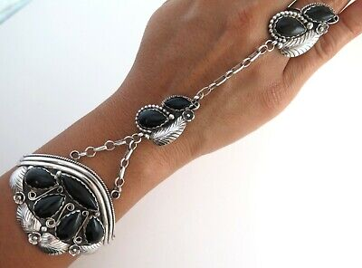 Awesome Xl Sterling Silver Black Onyx