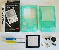 Clear Green Full Housing Case Shell For Gameboy Pocket +buttons+ Triwing +screen