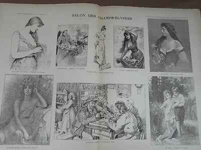 L' ART ET LA MODE - 1892 - No 23 - ILLUSTREE - SALON DES CHAMPS ELYSEES