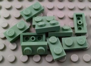 LEGO Lot of 10 Sand Green 1x2 Plate Pieces