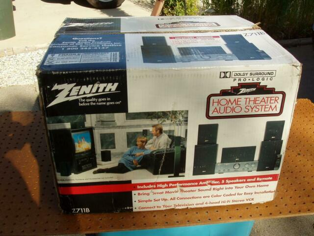 Zenith Z712B A//V Dolby Pro Logic Surround Sound Receiver *Tested Working*