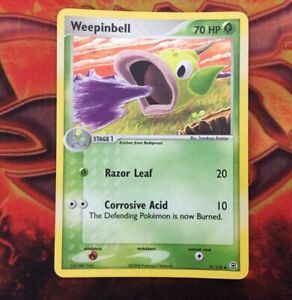 Weepinbell-51-112-REVERSE-Holo-Pokemon-Card-EX-FireRed-LeafGreen-Pokemon-TCG-NM