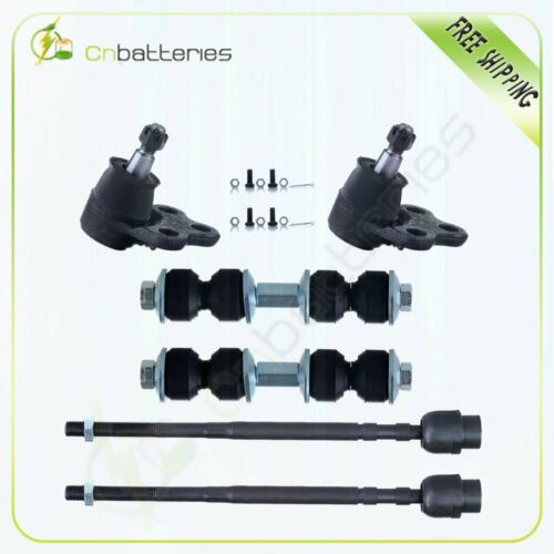Set of 6 Tie Rod Ball Joint Kit For 2005-10 Buick Allure /& Lacrosse All Models