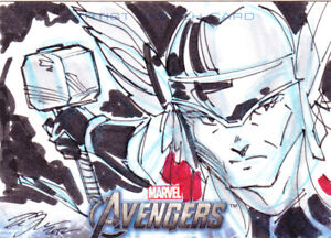 2012  Avengers Assemble       Thor      1/1 Sketch Card