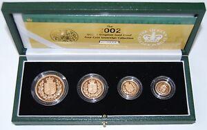 2002 Royal Mint Golden Jubilee AGW 62 Gms Gold Proof 4 Coin Sov Set Boxed COA - Slough, United Kingdom - 2002 Royal Mint Golden Jubilee AGW 62 Gms Gold Proof 4 Coin Sov Set Boxed COA - Slough, United Kingdom