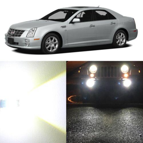 Alla Lighting Fog Light H3 Super Bright 6500K White LED Bulbs for Cadillac STS