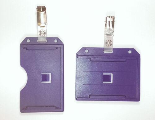 1 x BIADESIVO rigido titolare della carta /& Cinturino Clip per ID Badge gratis UK P /& P