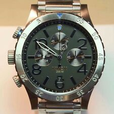 NEW NIXON 48-20 Chrono Midnight GT Silver Blue Watch A486-1529 SALE! MEN GIFT