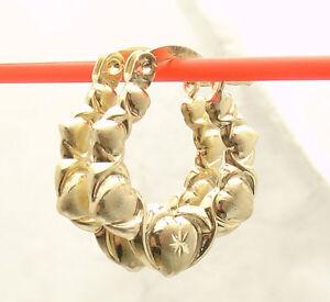 20mm Graduated Diamond Cut Hearts /& Kisses Hoop Earrings 925 Sterling Silver