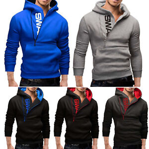 Men-039-s-Zip-Up-Hoodie-Winter-Hooded-Sweatshirt-Warm-Jacket-Coat-Pullover-Outwear